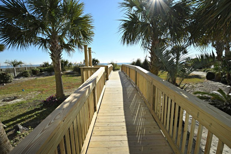 Ocean Blue Resort Beach Walkway
