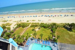 Ocean Blue 803 Beach and Pool View