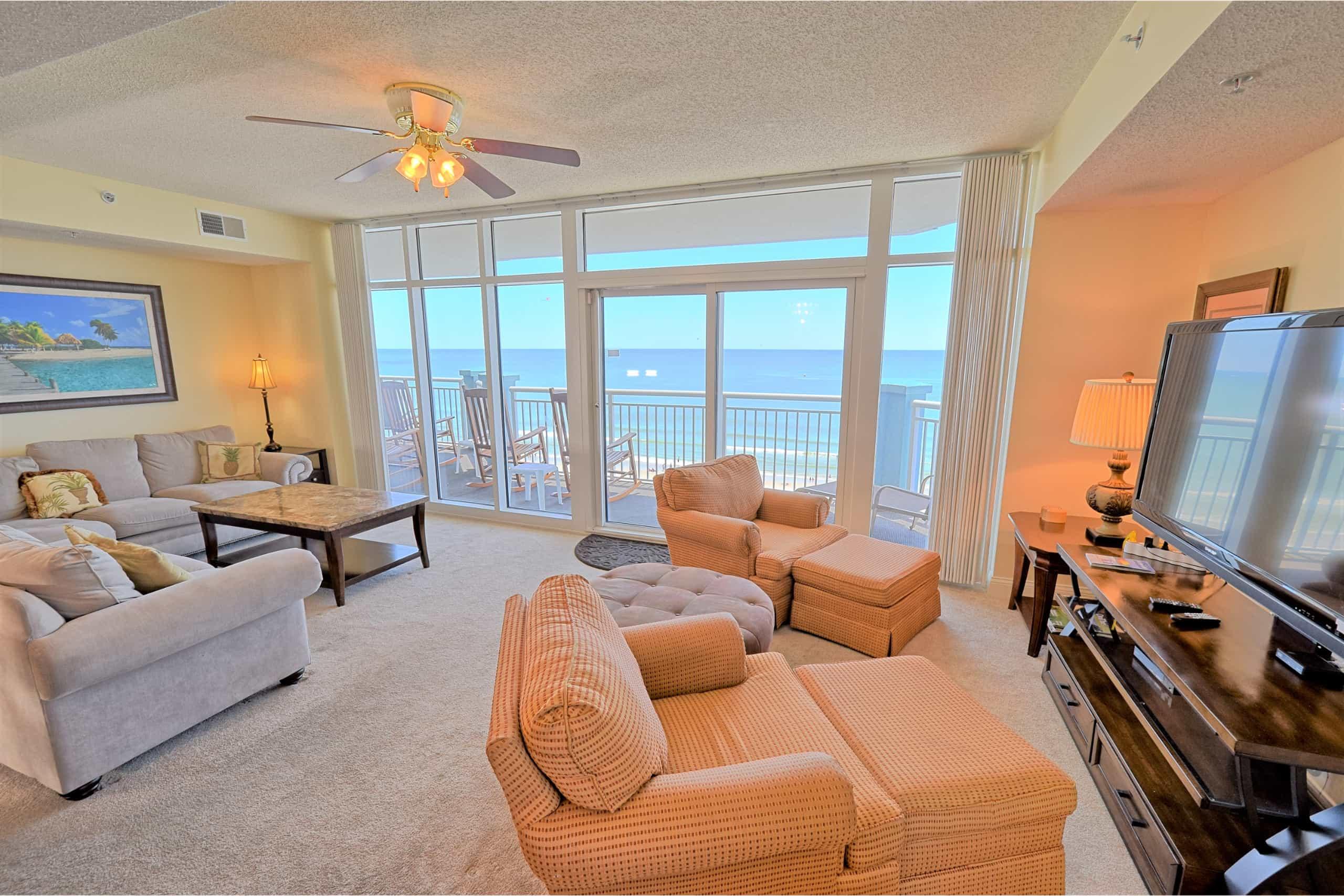 Ocean-Blue-Myrtle-Beach-803-Living-Room-View