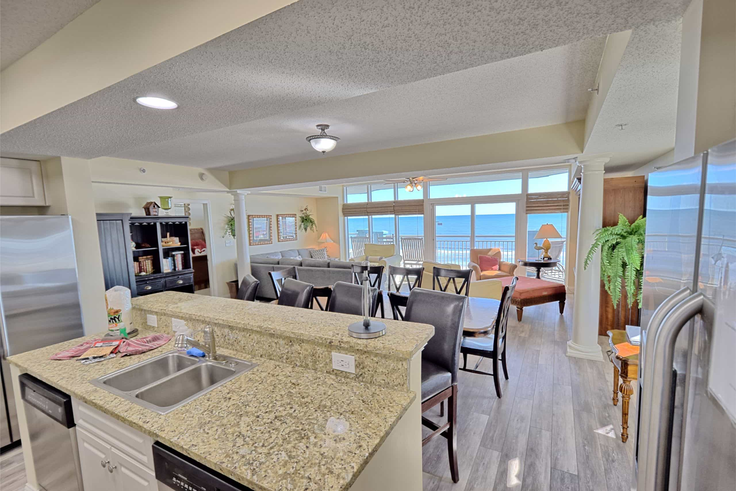 Ocean-Blue-Resort-Myrtle-Beach-503-Kitchen-View
