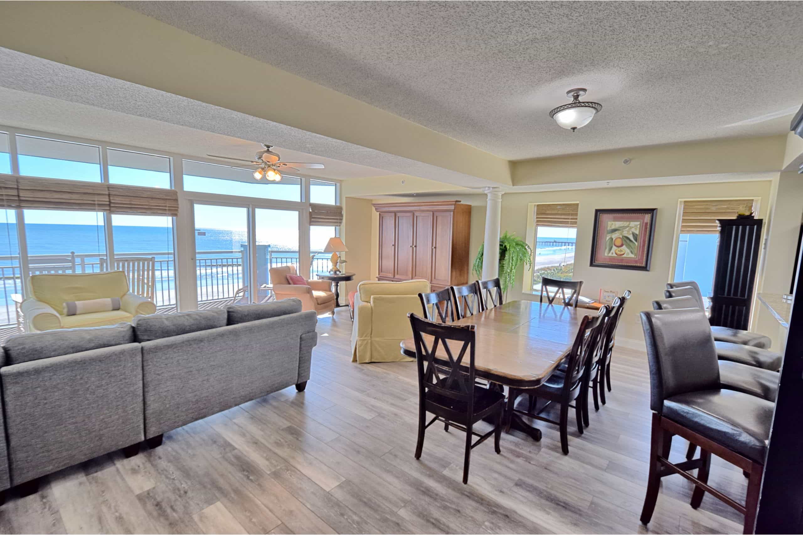 Ocean-Blue-Resort-Myrtle-Beach-503-Living-Dining-Room-View