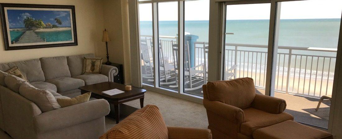 Vacation Rental Myrtle Beach Oceanfront Lving Room