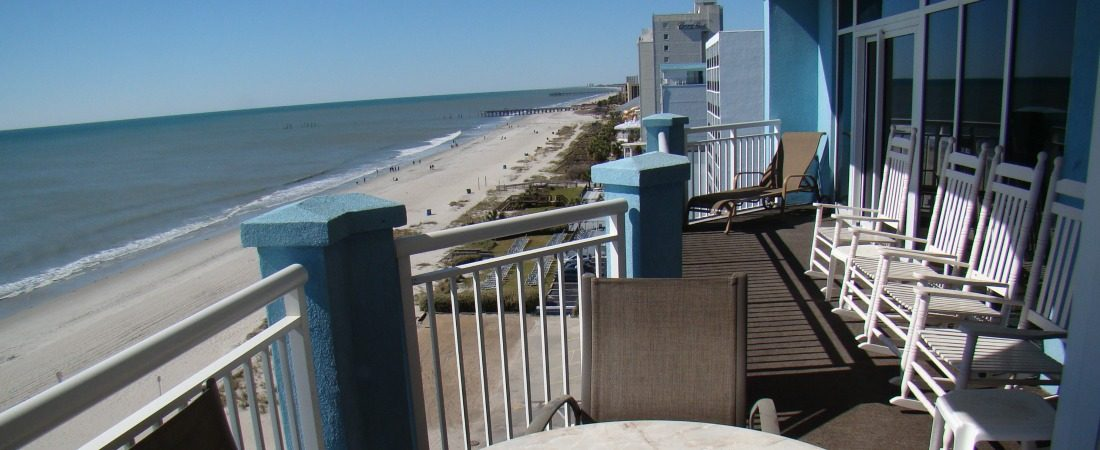 Vacation Rental Myrtle Beach Oceanfront Balcony