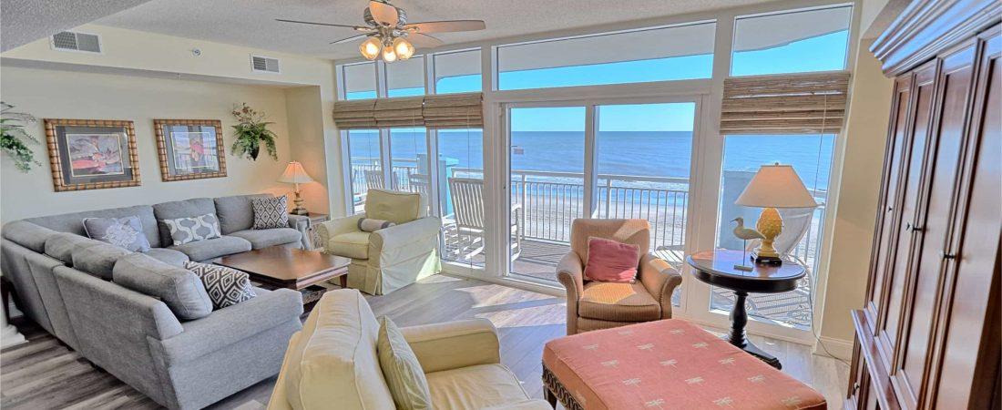 Ocean-Blue-Resort-Myrtle-Beach-503-Living-Room-View-North